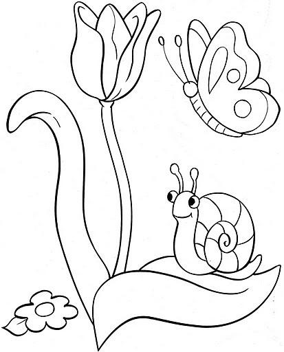 Coloriages paques - Coloriage fleur tulipe ...