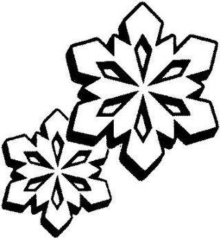Coloriage flocons de neige - Flocon dessin ...