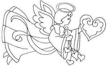 Coloriages les anges pour les bebes page 3 - Dessin d ange gardien ...