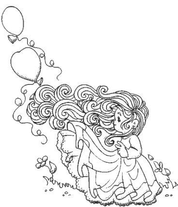 Coloriages les filles page 3 - Coloriage fillette ...