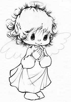 Coloriages les anges pour les bebes page 2 - Dessin d ange gardien ...