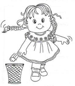 Coloriages les filles page 6 - Dessin de poubelle ...