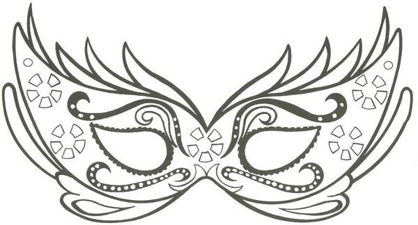 Loup pour carnaval - Dessin de masque de carnaval ...