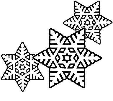 Coloriage les flocons de neige - Flocon dessin ...