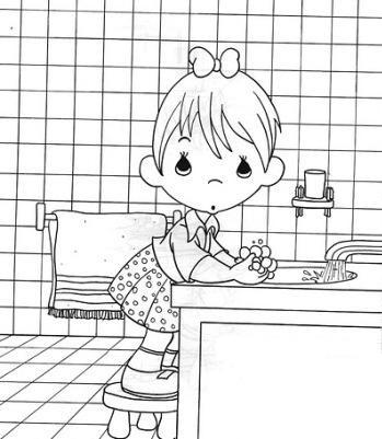 Coloriages les filles page 11 for Salle de bain fille