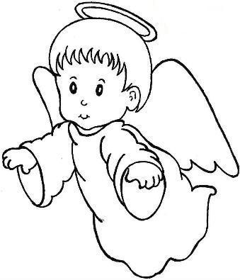 Coloriages les anges page 2 - Ange facile a dessiner ...