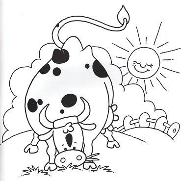 Coloriages les vacances a la campagne page 2 - Dessin vache facile ...
