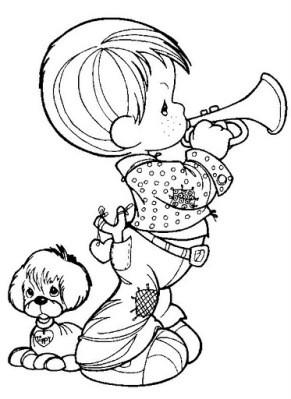 petit garon la trompette