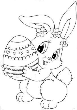 pques lapin loeuf - Coloriages De Paques