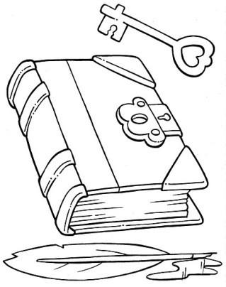 Coloriage Le Livre Et La Cle