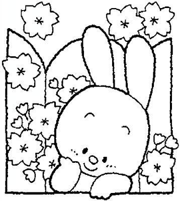 Coloriages paques page 5 - Coloriage petit lapin ...