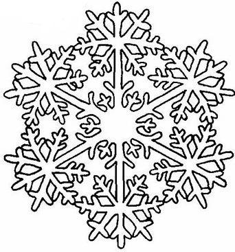 Le flocon de neige - Dessin etoile des neiges ...