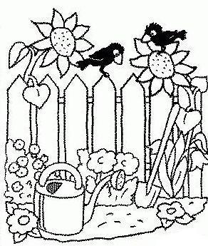 Coloriages au jardin for Les meilleurs sites de jardinage