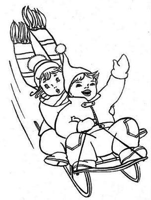 Enfants en luge