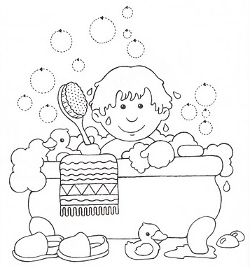 Coloriages les garcons page 8 for Photo dans un bain